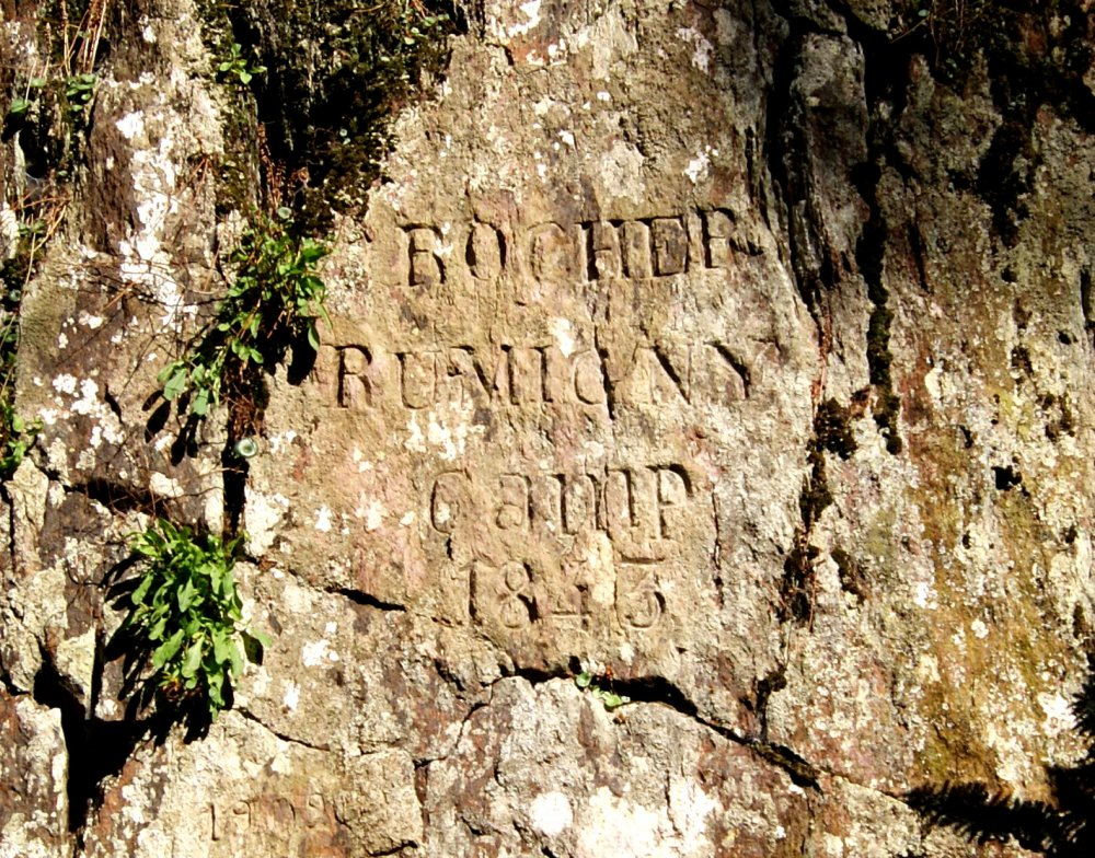 Inscription sur le Rocher de Rumigny