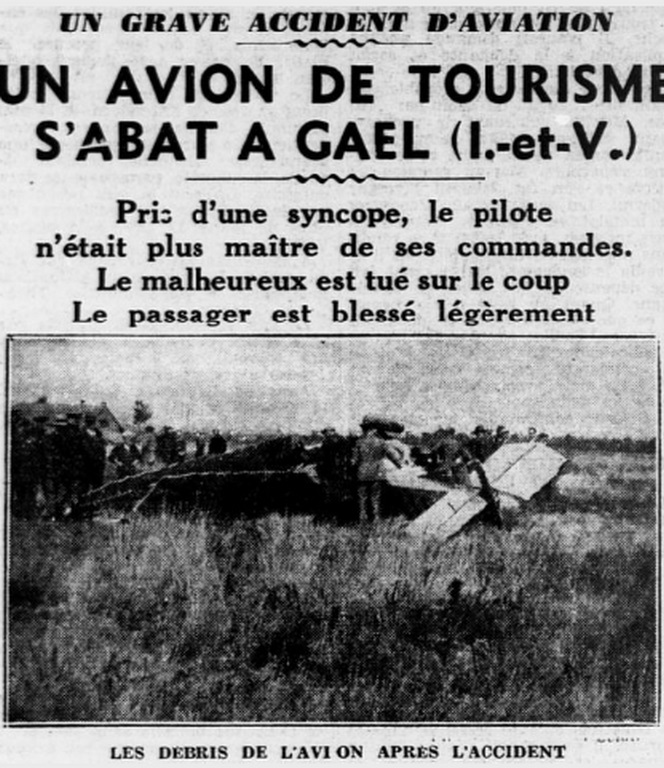 Un accident à Point-Clos en 1933